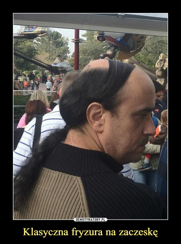 Klasyczna fryzura na zaczeskę –