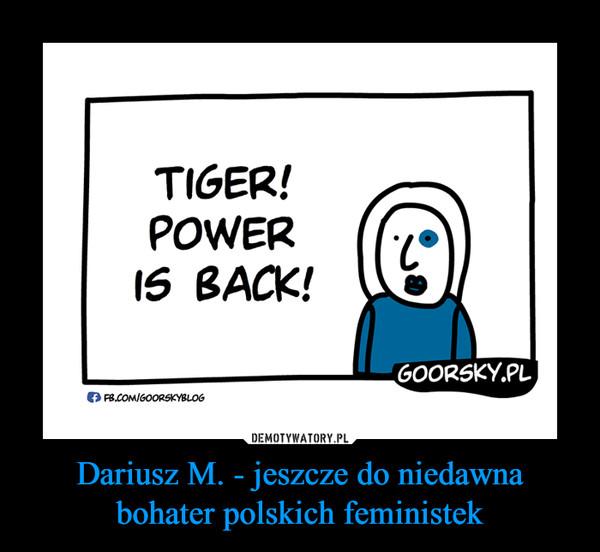 Dariusz M. - jeszcze do niedawna bohater polskich feministek –