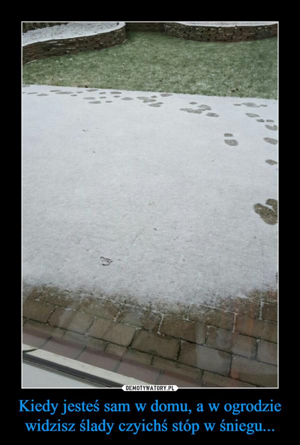 Kiedy jesteś sam w domu, a w ogrodzie widzisz ślady czyichś stóp w śniegu... –