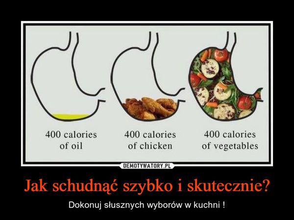 Jak schudnąć szybko i skutecznie? – Dokonuj słusznych wyborów w kuchni !