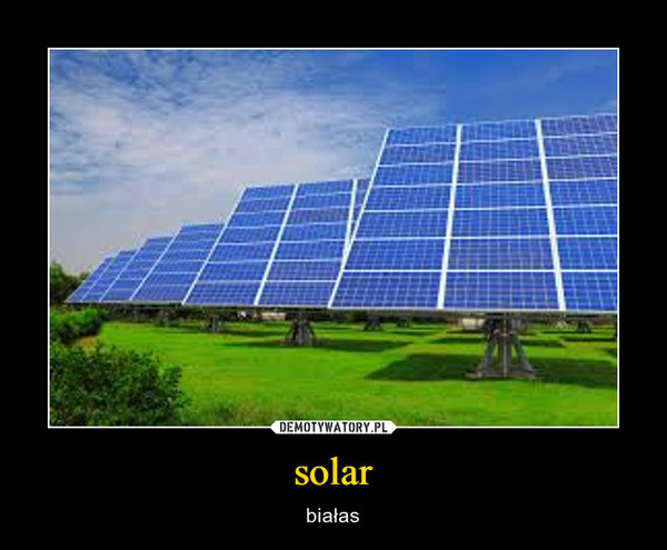 solar – białas