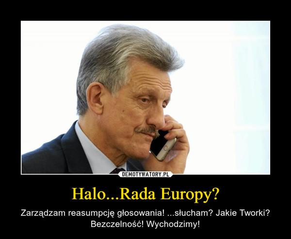 Halo...Rada Europy? – Zarządzam reasumpcję głosowania! ...słucham? Jakie Tworki? Bezczelność! Wychodzimy!