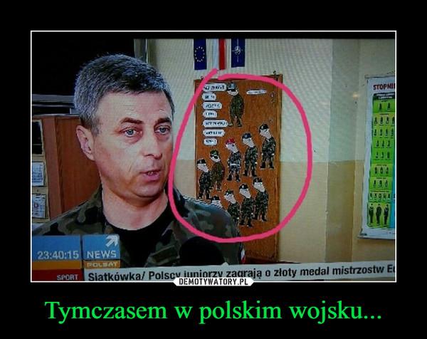 Tymczasem w polskim wojsku... –