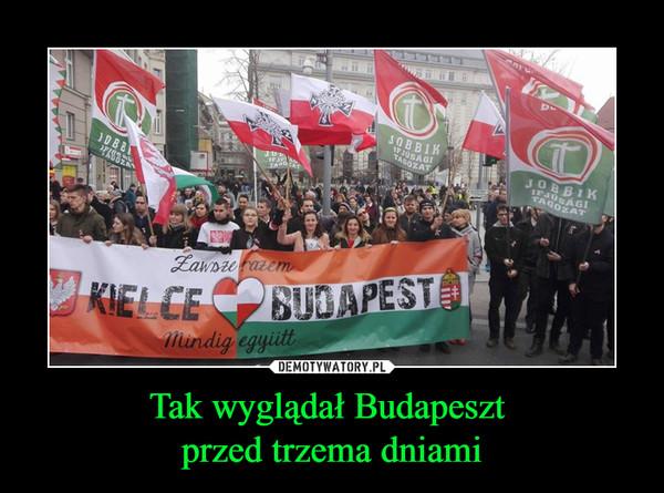Tak wyglądał Budapeszt przed trzema dniami –
