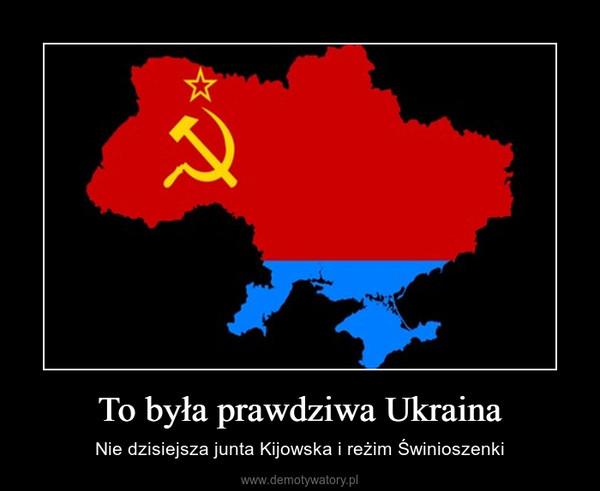To była prawdziwa Ukraina – Nie dzisiejsza junta Kijowska i reżim Świnioszenki