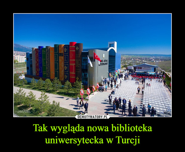 Tak wygląda nowa biblioteka uniwersytecka w Turcji –