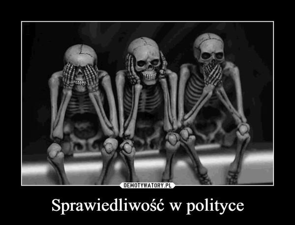 Sprawiedliwość w polityce –