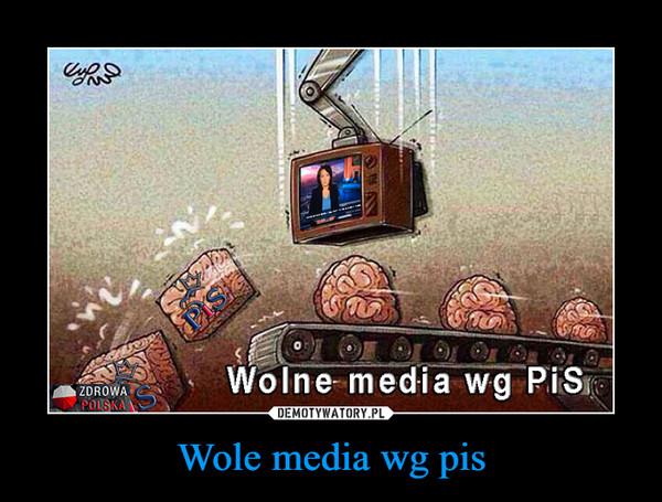 Wole media wg pis –