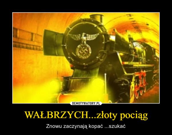 WAŁBRZYCH...złoty pociąg – Znowu zaczynają kopać ...szukać