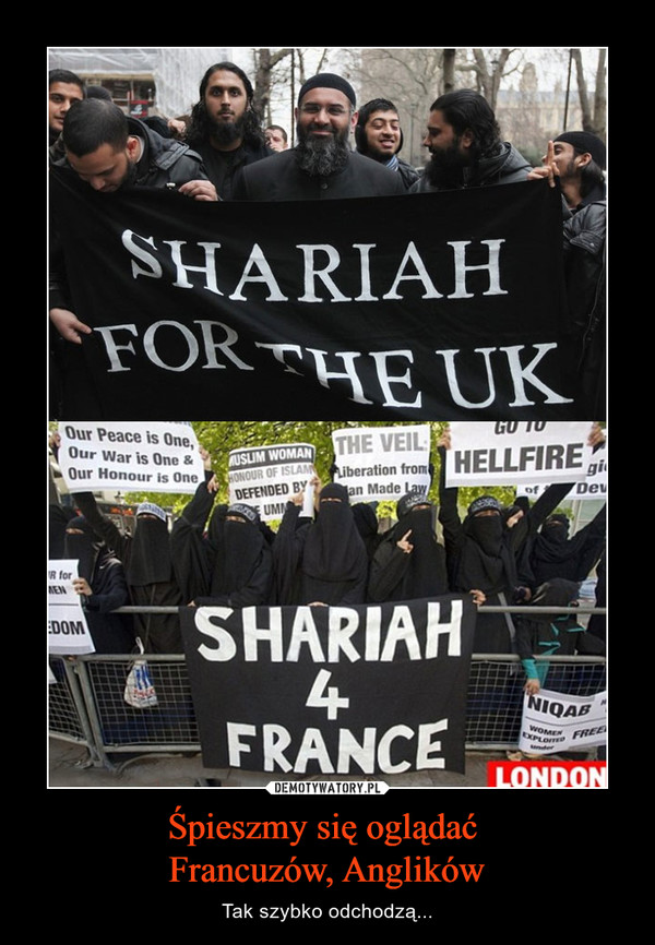 Śpieszmy się oglądać Francuzów, Anglików – Tak szybko odchodzą...