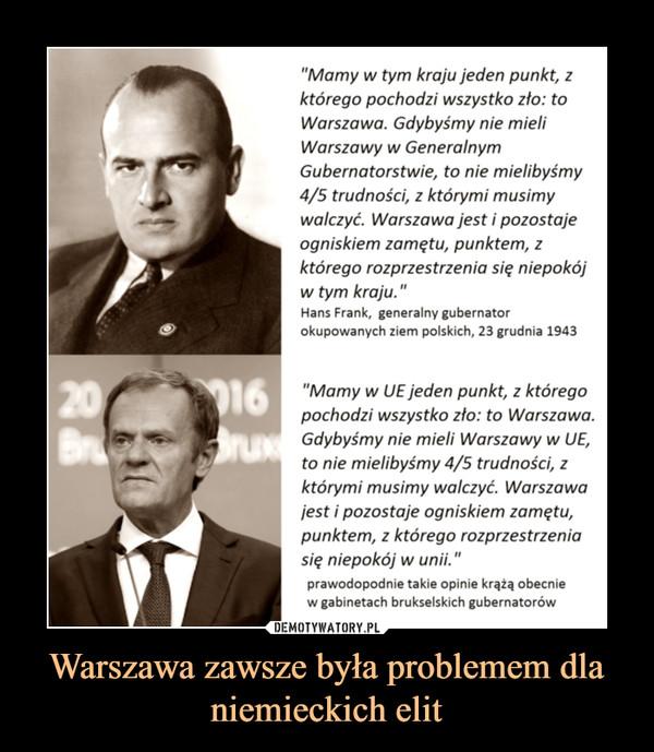 Warszawa zawsze była problemem dla niemieckich elit –