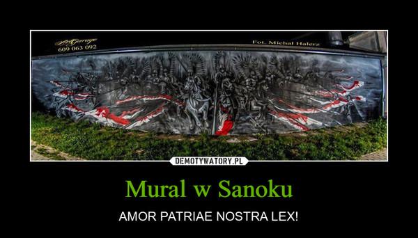 Mural w Sanoku – AMOR PATRIAE NOSTRA LEX!