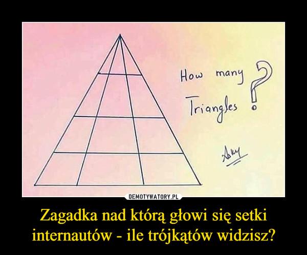Zagadka nad którą głowi się setki internautów - ile trójkątów widzisz? –