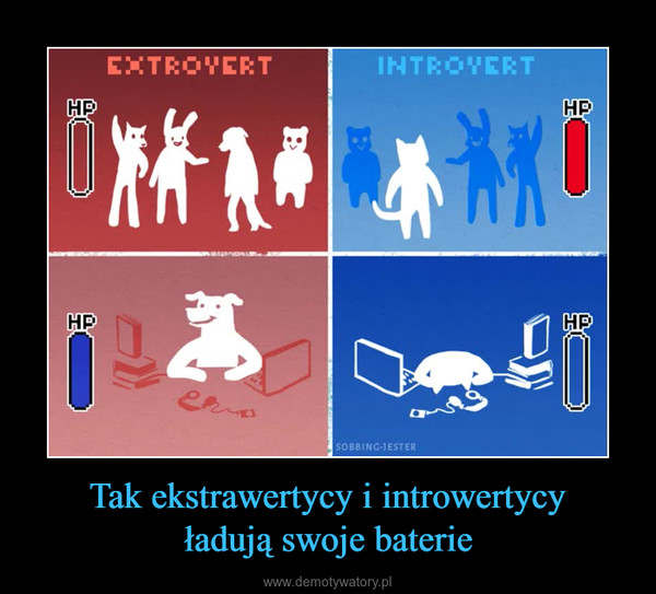 Tak ekstrawertycy i introwertycyładują swoje baterie –