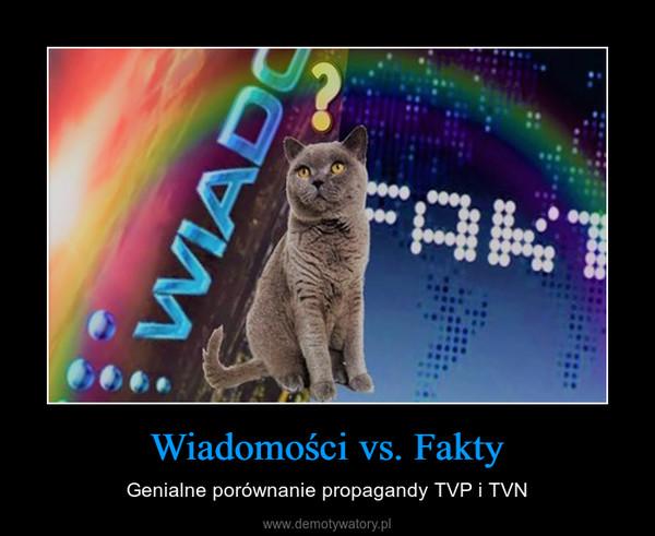 Wiadomości vs. Fakty – Genialne porównanie propagandy TVP i TVN