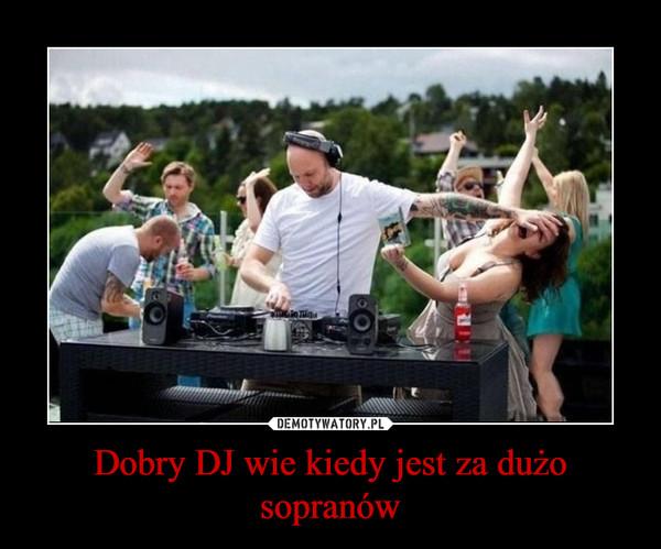 Dobry DJ wie kiedy jest za dużo sopranów –