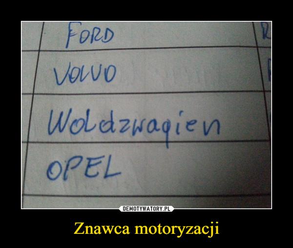 Znawca motoryzacji –
