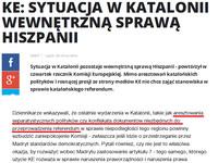 Jednak Komisja nie ma kompetencji do  wtrącania się w  wewnętrzne sprawy Polski – No ale te podwójne standardy...