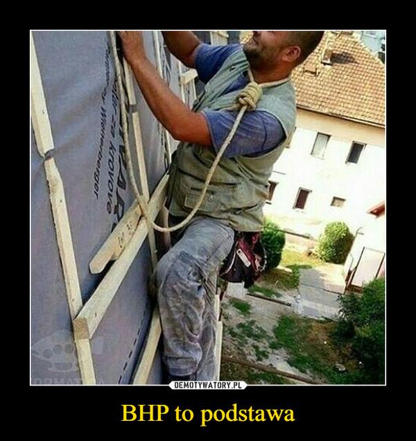 BHP to podstawa –