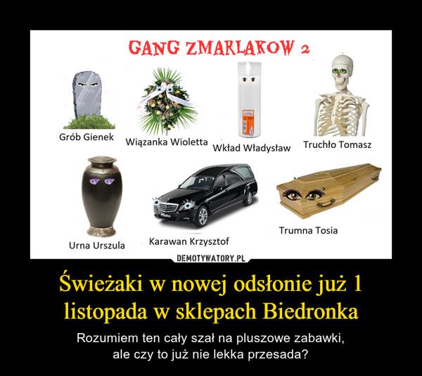 Świeżaki w nowej odsłonie już 1 listopada w sklepach Biedronka – Rozumiem ten cały szał na pluszowe zabawki,ale czy to już nie lekka przesada?