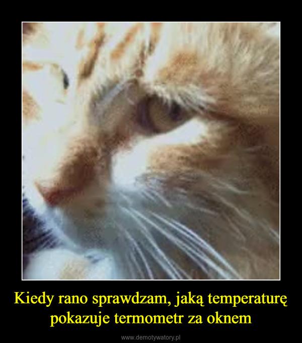 Kiedy rano sprawdzam, jaką temperaturę pokazuje termometr za oknem –