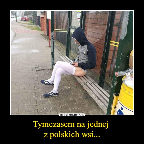 Tymczasem na jednej z polskich wsi... –