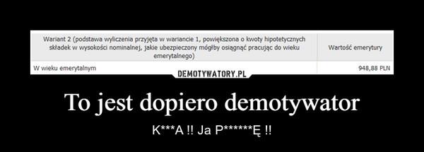 To jest dopiero demotywator – K***A !! Ja P******Ę !!