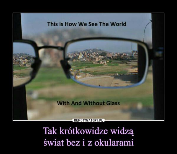 Tak krótkowidze widząświat bez i z okularami –