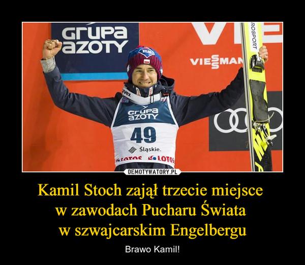 Kamil Stoch zajął trzecie miejsce w zawodach Pucharu Świata w szwajcarskim Engelbergu – Brawo Kamil!