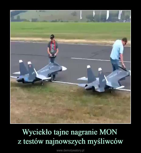 Wyciekło tajne nagranie MON z testów najnowszych myśliwców –