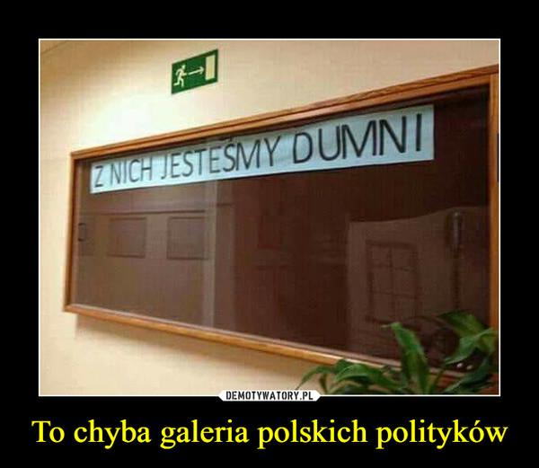 To chyba galeria polskich polityków –  Z NICH JESTEŚMY DUMNI
