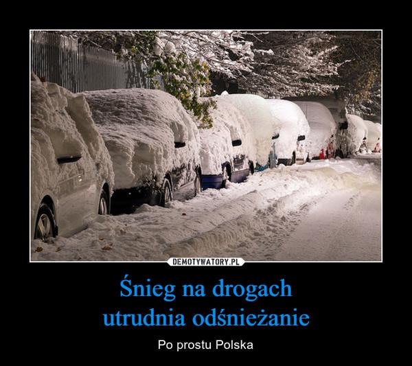Śnieg na drogachutrudnia odśnieżanie – Po prostu Polska