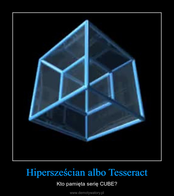 Hipersześcian albo Tesseract – Kto pamięta serię CUBE?