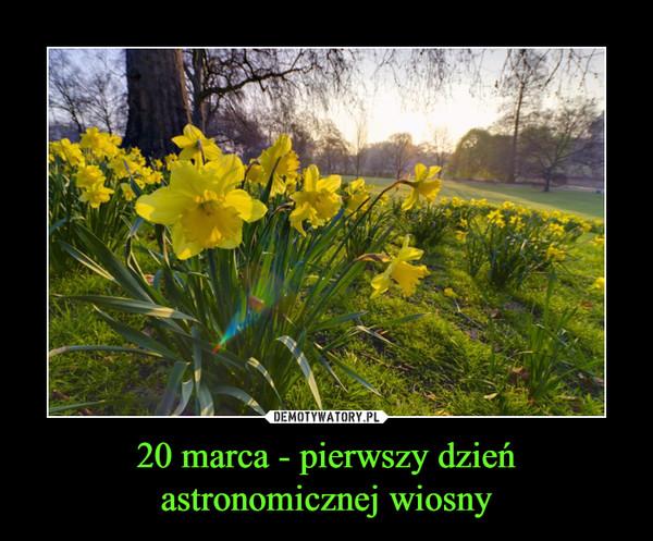 20 marca - pierwszy dzień astronomicznej wiosny –