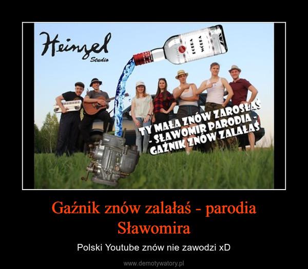 Gaźnik znów zalałaś - parodia Sławomira – Polski Youtube znów nie zawodzi xD