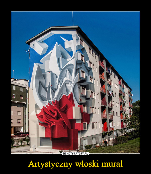 Artystyczny włoski mural –
