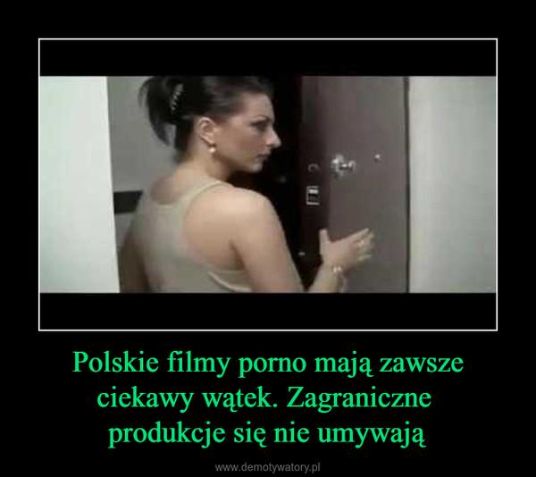 Polskie filmy porno mają zawsze ciekawy wątek. Zagraniczne produkcje się nie umywają –