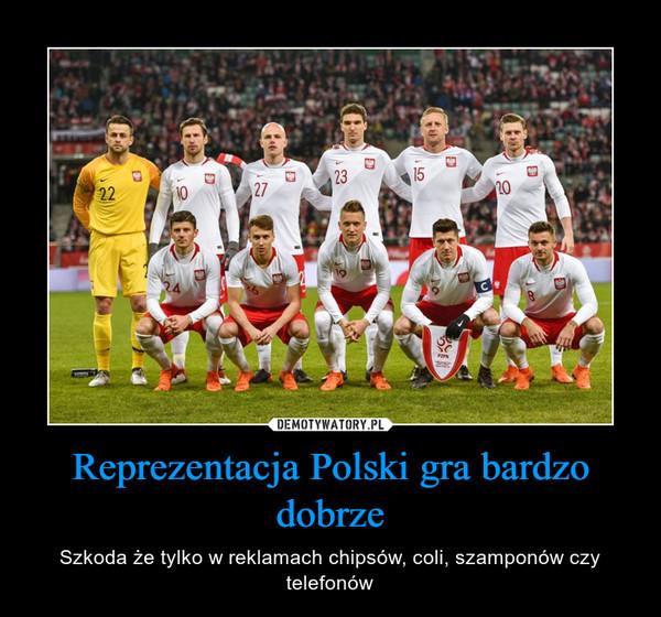 Reprezentacja Polski gra bardzo dobrze – Szkoda że tylko w reklamach chipsów, coli, szamponów czy telefonów
