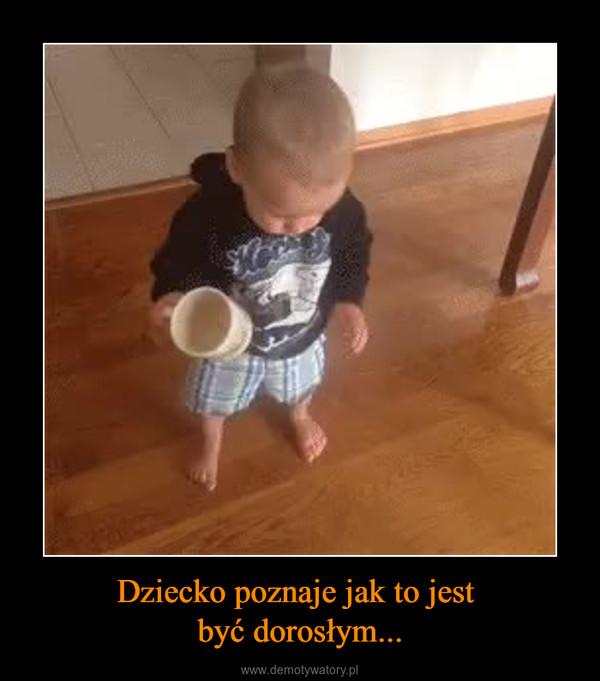 Dziecko poznaje jak to jest być dorosłym... –