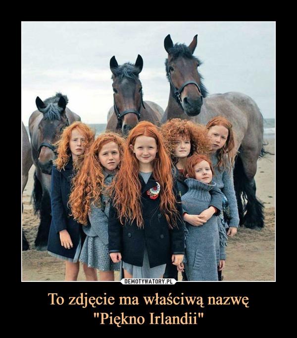 """To zdjęcie ma właściwą nazwę""""Piękno Irlandii"""" –"""