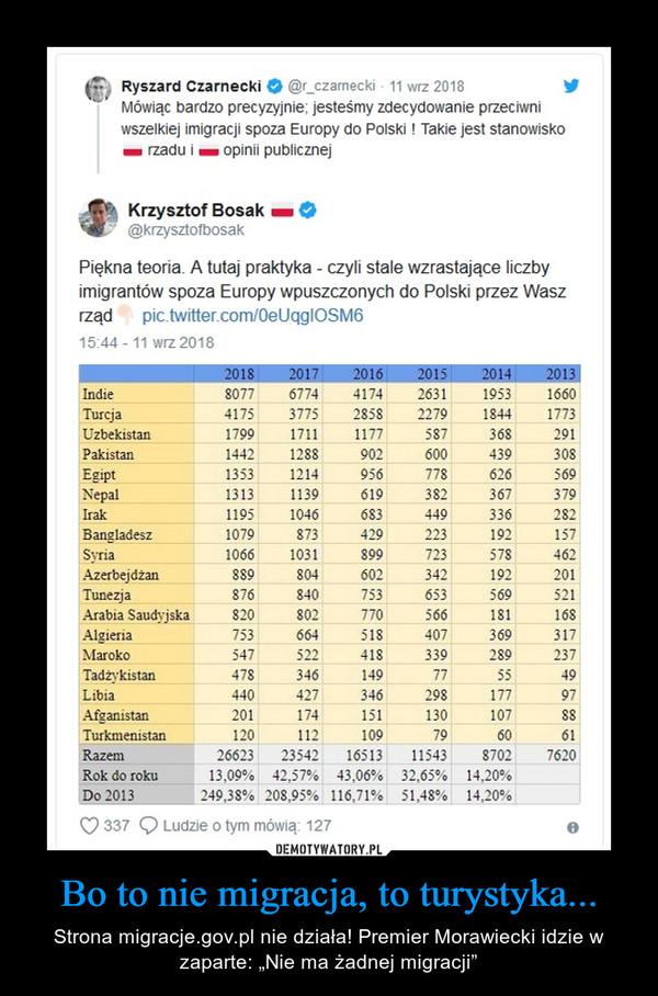 """Bo to nie migracja, to turystyka... – Strona migracje.gov.pl nie działa! Premier Morawiecki idzie w zaparte: """"Nie ma żadnej migracji"""""""