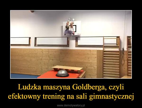 Ludzka maszyna Goldberga, czyli efektowny trening na sali gimnastycznej –
