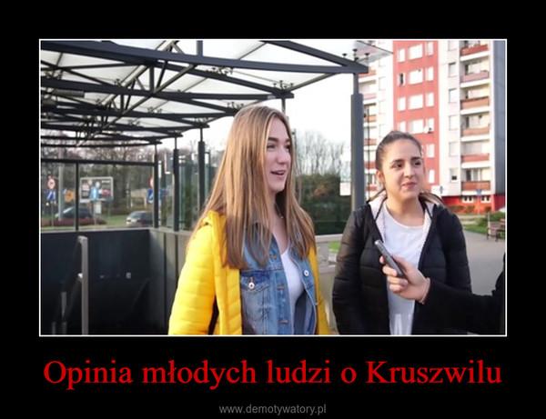 Opinia młodych ludzi o Kruszwilu –