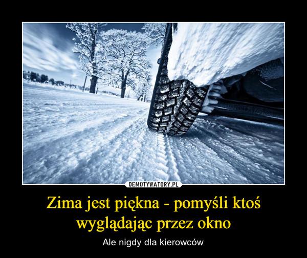 Zima jest piękna - pomyśli ktoś wyglądając przez okno – Ale nigdy dla kierowców