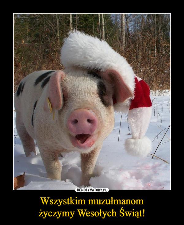 Wszystkim muzułmanomżyczymy Wesołych Świąt! –