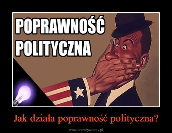 Jak działa poprawność polityczna? –