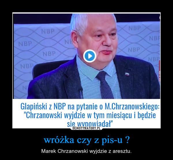 wróżka czy z pis-u ? – Marek Chrzanowski wyjdzie z aresztu.