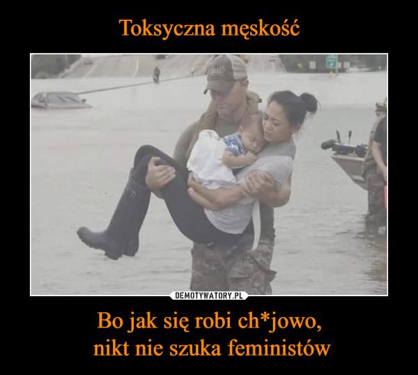 Bo jak się robi ch*jowo, nikt nie szuka feministów –