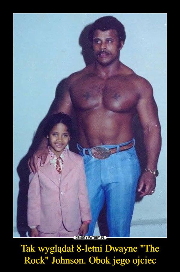 """Tak wyglądał 8-letni Dwayne """"The Rock"""" Johnson. Obok jego ojciec –"""