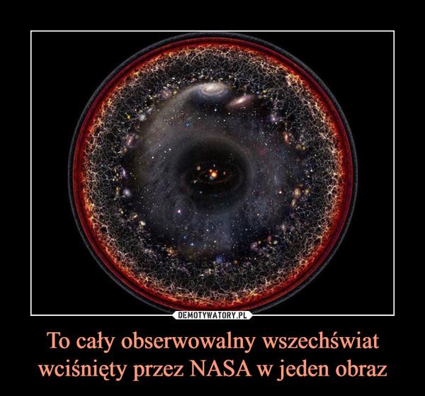 To cały obserwowalny wszechświat wciśnięty przez NASA w jeden obraz –